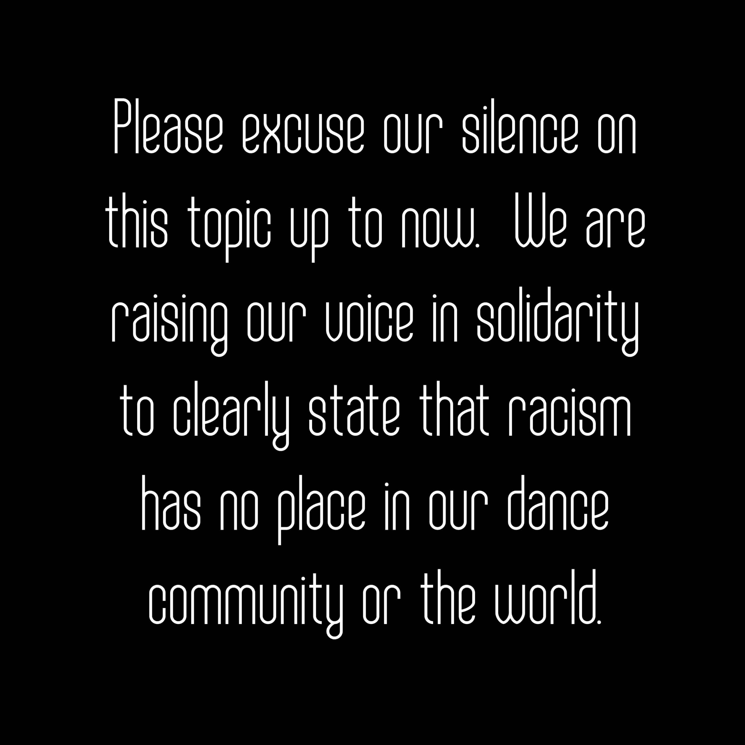 A Statement From San Jose Dance Theatre.